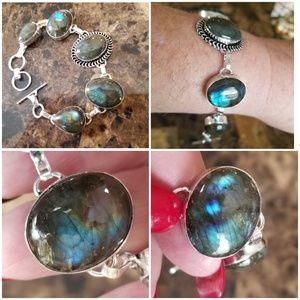 "Jewelry - Colorful Laboradorite Bracelet 8.25 "" long"